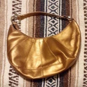 Metallic gold Tommy Hilfiger hand bag